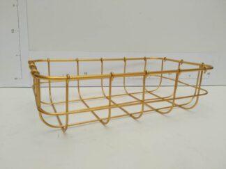 Cesto baño metal dorado bañto016