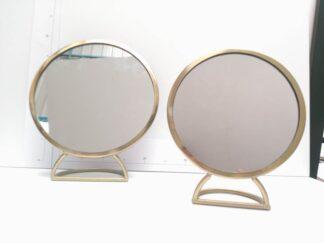 Espejo tocador dorado bañto012