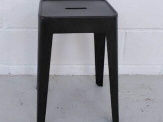 Taburete bajo de metal tipo Tolix negro asita005