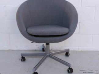 Silla de oficina tapizada gris asisi016