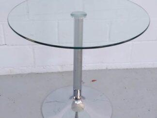 Mesa auxiliar redonda sobre cristal mesce003