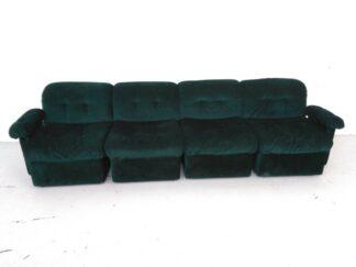 Sofá modular terciopelo verde esmeralda asiso002