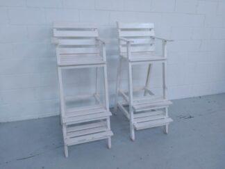 Silla de madera blanca socorrista mueex002
