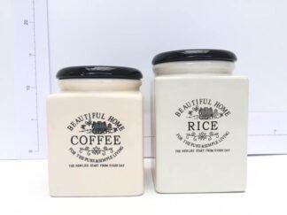 Set tarros beige-negro coffe and rice cocta016