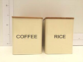 Tarro beige con tapa bambu coffe rice cocta010