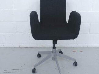 Silla de oficina tapizada tela gris asisi005