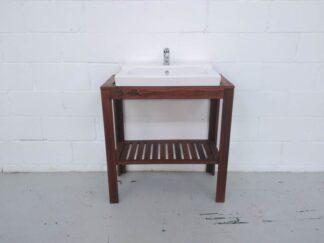 Lavabo estructura de madera con lavabo