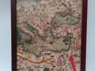 Cuadro mapa antiguo atrcu147