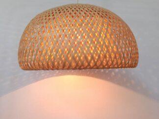 Lámpara techo madera moderna ilute008