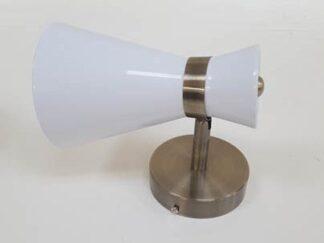 Aplique blanco y cobre iluap023