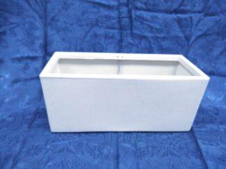 Maceta rectangular blanca extja114