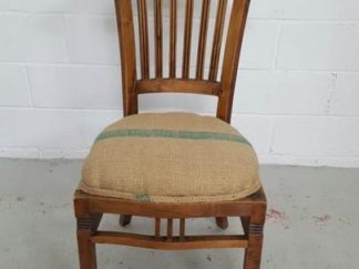 silla de madera asiento tapizado saco asisi030
