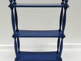 Estantería madera azul mini