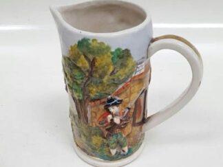 Jarra cerámica dibujo gaiteiro