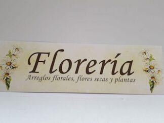 Cartel flores florería