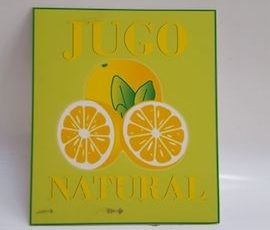 Cartel jugo natural limon