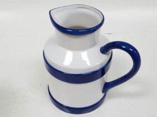 Jarra cerámica linea azul