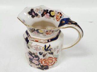 Jarra cerámica flores negras