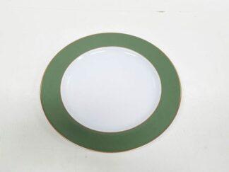 Platos cenefa verde x12