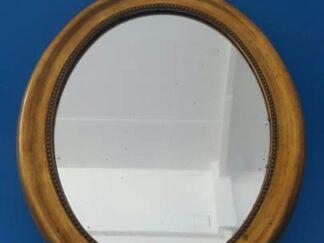 Espejo redondo marco dorado