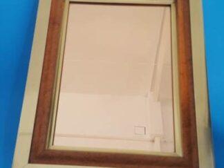 Espejo madera y dorado 50x40