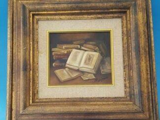 Cuadro bodegón libro