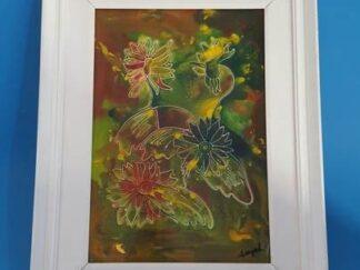 Cuadro bodegón flores 52x63