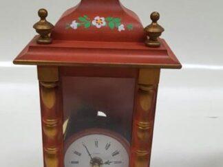 Reloj mesa casa madera