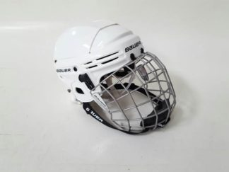 Casco hockey hielo blanco