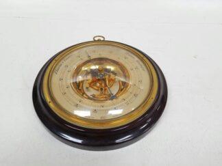 Barómetro redondo dorado