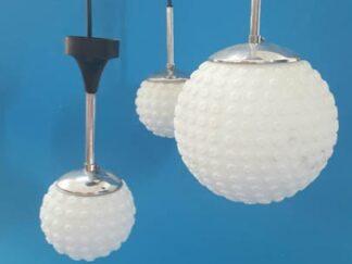 Lampara globo granulado 3 esferas