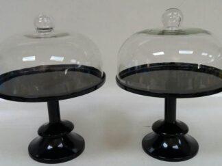 Expositor tarta cristal base negra