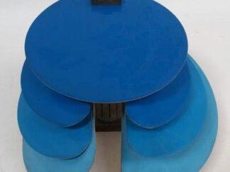 Aplique onda azul moderno