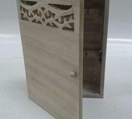 Caja llaves madera beige