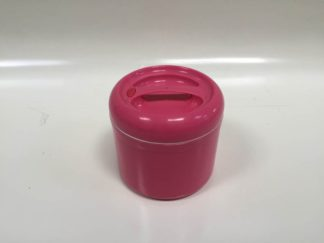 Fiambrera rosa redonda
