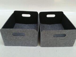 Caja fieltro gris